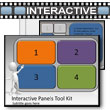 ID# 5440 Interactive Panels Tool Kit PowerPoint Template