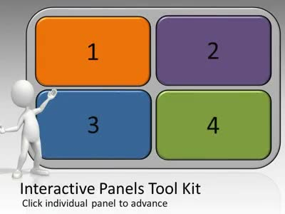 ID# 5440 - Interactive Panels Tool Kit - PowerPoint Template