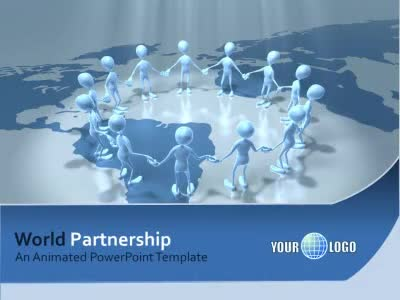 ID# 5501 - World Partnership - PowerPoint Template