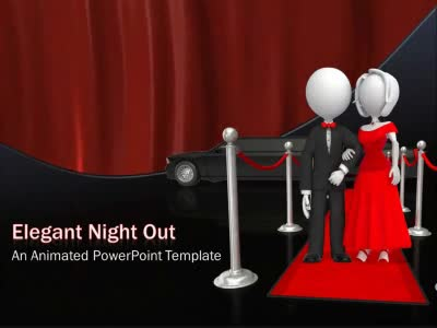 Elegant Night Out  A Powerpoint Template From PresentermediaCom