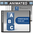 ID# 5742 Block Tower Tool Kit PowerPoint Template