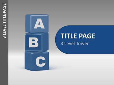 ID# 5742 - Block Tower Tool Kit - PowerPoint Template