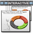 ID# 5783 Four Piece Interactive Chevron Tool Kit PowerPoint Template