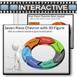 ID# 5785 Seven Piece Interactive Chevron Tool Kit PowerPoint Template
