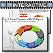 ID# 5786 Eight Piece Interactive Chevron Tool Kit PowerPoint Template