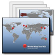 World Map Tool Kit PowerPoint template