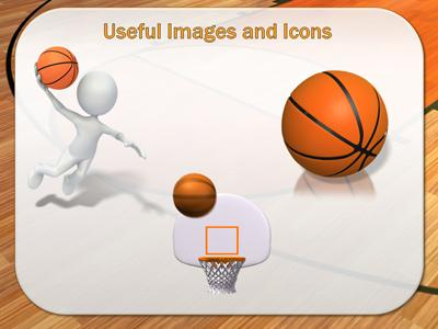 Basketball Court  A Powerpoint Template From PresentermediaCom