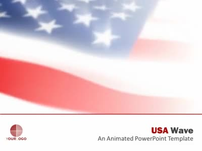ID# 6056 - USA Wave - PowerPoint Template