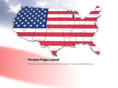 united states map flag waving, Powerpoint