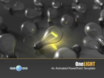ID# 6252 - One Light - PowerPoint Template