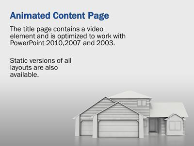 housing real estate - a powerpoint template from presentermedia, Modern powerpoint