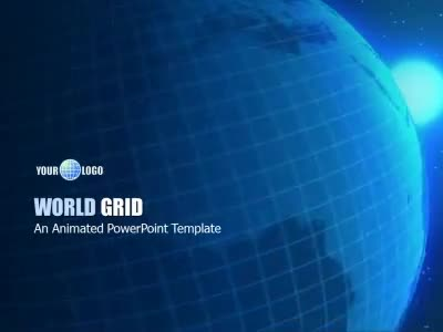 ID# 6300 - World Grid - PowerPoint Template