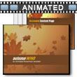 ID# 6367 Autumn Wind PowerPoint Template