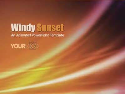 ID# 6508 - Windy Sunset - PowerPoint Template