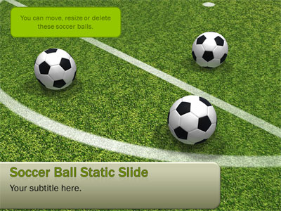 soccer balls dropping on field - a powerpoint template from, Modern powerpoint