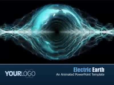 Electric earth a powerpoint template from presentermedia electric earth powerpoint template toneelgroepblik Gallery