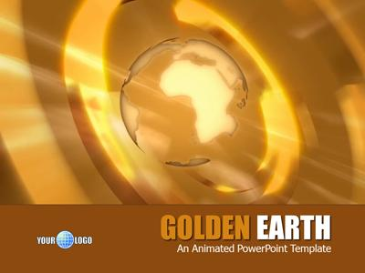 Golden earth a powerpoint template from presentermedia home powerpoint templates toneelgroepblik Images