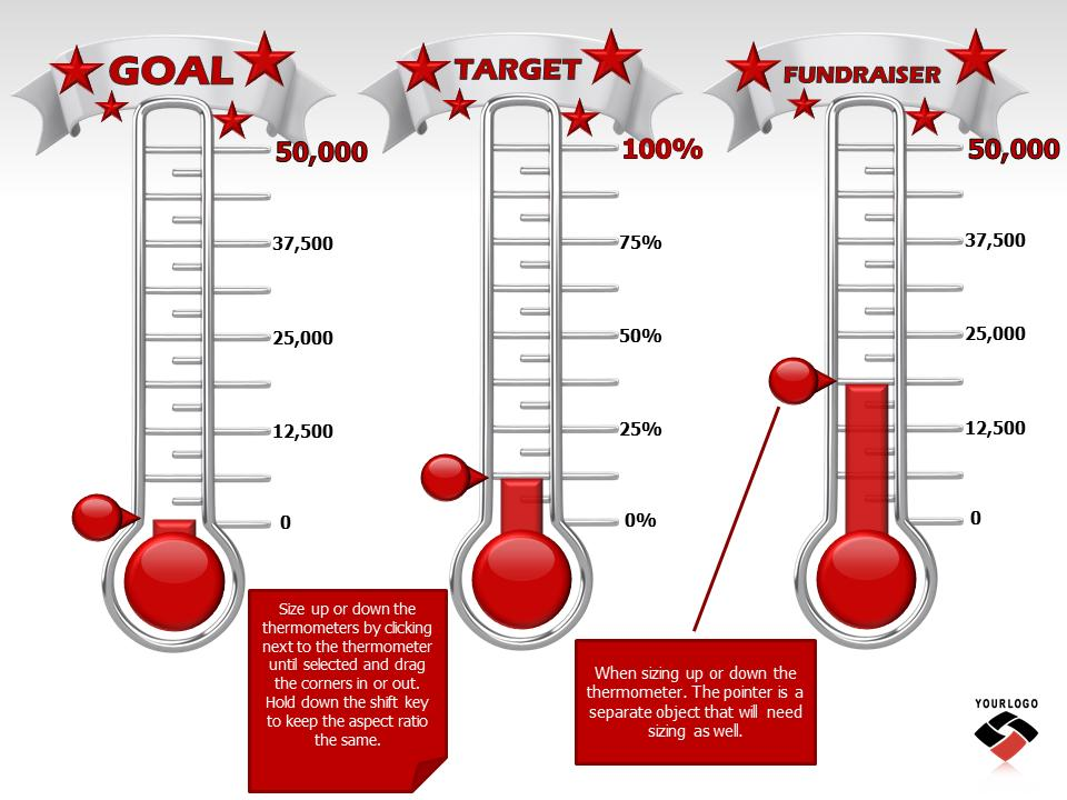 fundraising goal tracker template