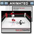 ID# 6724 Knock Out Competition PowerPoint Template