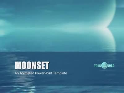 ID# 6747 - Moonset - PowerPoint Template