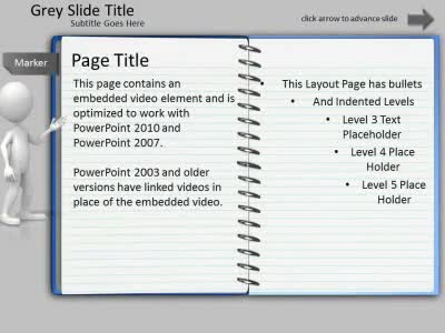 ID# 6902 - Note Pad Page Turn Tool Kit - PowerPoint Template
