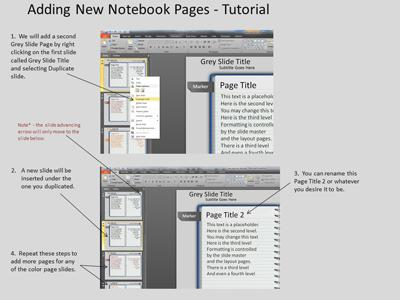 Note Pad Page Turn Tool Kit PowerPoint Template