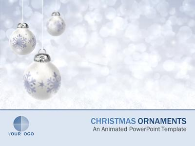 Christmas Ornaments - A Powerpoint Template From Presentermedia.Com