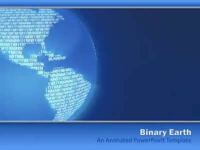 Binary Earth - A Powerpoint Template From Presentermedia.Com