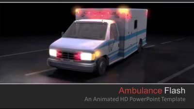 ID# 7248 - Ambulance Flash - PowerPoint Template