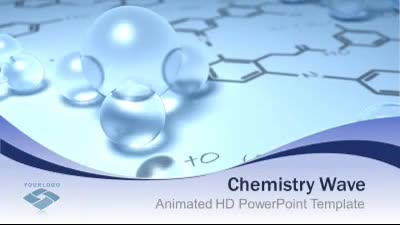 chemistry wave - a powerpoint template from presentermedia, Modern powerpoint