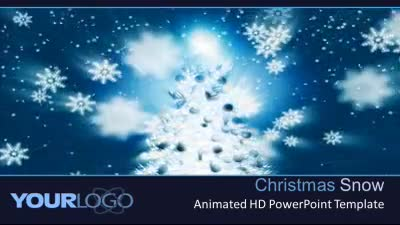 ID# 7286 - Christmas Snow - PowerPoint Template