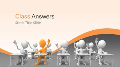Class answers a powerpoint template from presentermedia home powerpoint templates toneelgroepblik Choice Image