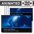 ID# 7295 - Earth Light Beams - PowerPoint Template