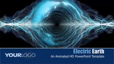 ID# 7299 - Electric Earth - PowerPoint Template