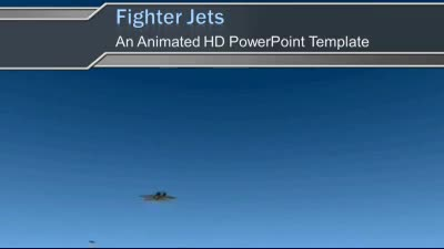 ID# 7304 - Fighter Jets - PowerPoint Template