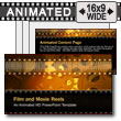 ID# 7305 - Film And Movie Reels - PowerPoint Template