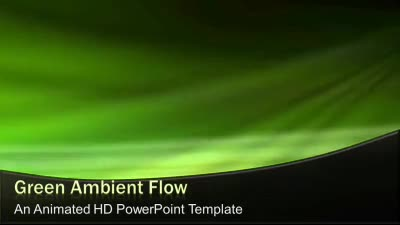 ID# 7325 - Green Ambient Flow - PowerPoint Template