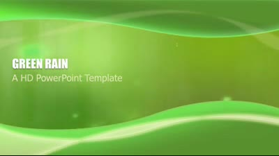 ID# 7326 - Green Rain - PowerPoint Template