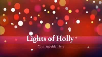 ID# 7343 - Lights Of Holly - PowerPoint Template