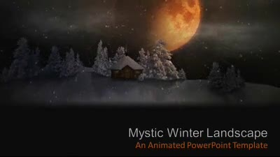 ID# 7357 - Mystic Winter Landscape - PowerPoint Template
