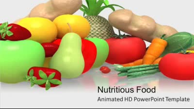 ID# 7369 - Nutritious Food - PowerPoint Template