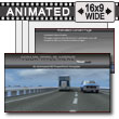 Oncoming Traffic PowerPoint template