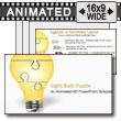 ID# 7380 - Puzzle Piece Light Bulb Assemble  - PowerPoint Template