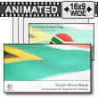 ID# 7424 - South Africa Flag - PowerPoint Template