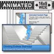 ID# 7428 - Stick Figures Walking Stairways - PowerPoint Template