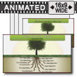 Tree Root Growth PowerPoint template