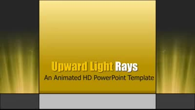 ID# 7454 - Upward Light Rays - PowerPoint Template