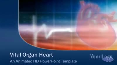ID# 7458 - Vital Organ Heart - PowerPoint Template