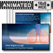 ID# 7459 - Vital Organ Lungs - PowerPoint Template
