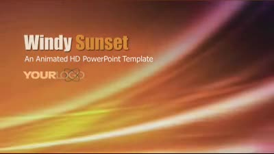 ID# 7474 - Windy Sunset - PowerPoint Template